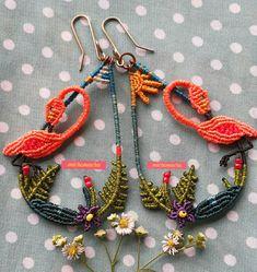 Macrame Earrings, Macrame Jewelry, Crochet Earrings, Micro Macramé, Earrings Handmade, Jewerly, Jewelry Making, Knots, How To Make