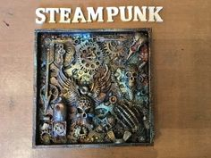Mixed Media Altered Paint Palette- for 7 Dots Studio- Steampunk- with Finnabair Rust Paste - YouTube