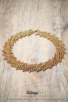 Die Diagonale Muster Weben Halskette TUTORIAL von BelugaBeads