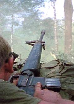 173rd Airborne Brigade soldier fighting for Hill 875 during the Battle of Dak To, November 1967. ~ Vietnam War