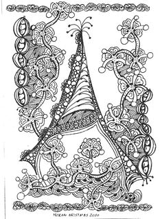 zentangle letters | It is delicate and frilly, which Alison is not, but it just has such a ...