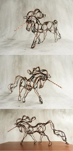 Nobody will be able to harness the unicorn! It's my new wire sculpture Unicorn - a symbol of strength, wisdom, unity and chastity. I made this sculpture 3 days of copper wire and filmed the p...