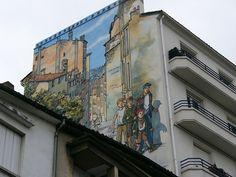 mur peint, Angoulême, Poitou-Charente