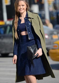 denim on denim in New York #NYFW
