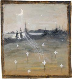 Hugo Simberg, Kuutamomaisema (Landscape in moonlight)