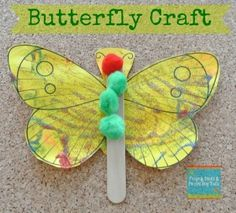 Butterfly Craft (a great activity for The Very Hungry Caterpillar) - FSPDT