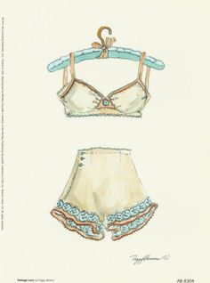 Vintage Lace art print by Peggy Abrams