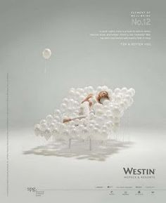 Westin Hotels: Element of well-being Advertising Agency: BBH, New York, USA Hotel Advertisement, Hotel Ads, Print Advertising, Creative Advertising, Print Ads, Advertising Campaign, Japan Advertising, Ad Design, Graphic Design
