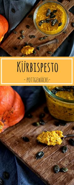 Hello autumn: pumpkin pesto You are in the right place about fall recipes favorite Here we offer you Pumpkin Recipes, Fall Recipes, Vegan Recipes, Pesto Dip, Good Food, Yummy Food, Hello Autumn, Diy Food, Food Inspiration