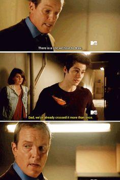 """#Teen Wolf Season 5 Episode 4 """"Condition Terminal"""" Malia Tate, Stiles Stilinski and Sheriff Stilinski"""