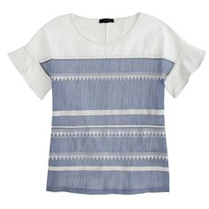embroidered flutter sleeve tee / j.crew