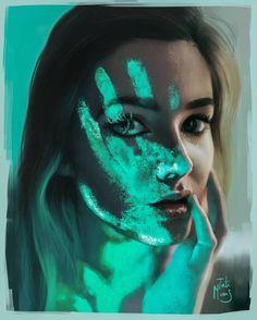 #girl #art #Green