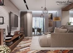 Interior design and visualization. Portfolio. Matviychuk Irena...: Современный лофт