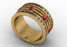 14k Yellow Gold Classic Engagement or Wedding by LUXARTJEWELRY, $2830.00