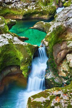 Emerald Pool in Triglav National Park, Slovenia