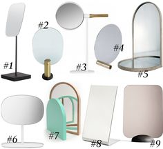 Sonoma Seven | Table mirrors | http://sonomaseven.dk