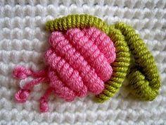 3D-Thread-flower-embroidery ༺✿Teresa Restegui http://www.pinterest.com/teretegui/✿༻