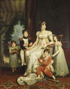 Famille Bonaparte par François Gérard (1770-1837) / La Corse peinte et dessinée dans l'histoire / Arts plastiques / Accueil - 1er Média Culturel Corse - Corsicatheque.com