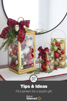 Create custom holiday gifts with new lanterns from Better Homes & Gardens at Walmart. #holiday #christmas #giftidea #homegift #lanterndecor #giftgiving #gifts #presents #christmaspresents #christmasgiftideas #diyholidaygift #hostessgiftidea