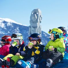 The #tots love and need a break from #skiing as well as soaking up the #mountain rays.