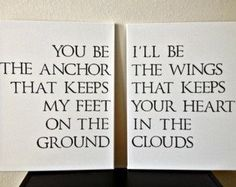 Anchor & wings.