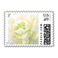 Personalizable, Light Yellow Peony Postage Stamps. Use as is or customize with your own text, monogram, couple's names, special date, etc in your favorite font and color. Great for wedding, bridal shower, engagement party, vow renewal, and anniversary invitations, announcements, save the dates, and thank yous. Available horizontal or vertical, a variety of peony colors, various postage denominations, and in other matching items (invitations, envelope seals, favor stickers, napkins, etc)…