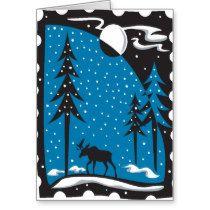 Moose Christmas Card