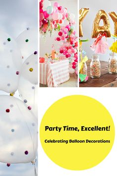 You'll be over the moon about decorating with balloon decorations when you see how much they have to offer! From arches, to confetti, to pom-poms, the options are endless!