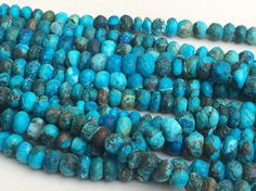 Turquoise Faceted Rondelle Beads Chinese by gemsforjewels on Etsy
