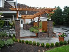 Stone Front Pergolas And Other Things We Should See More