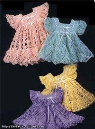 Easy Crochet Baby Dress | Yoke Dresses free crochet pattern - gorgeous patterns for FREE!