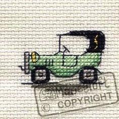 Mouseloft-Tiddler-Cross-Stitch-Kit-Green-Vintage-Car