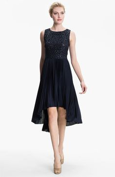 Suzi Chin for Maggy Boutique Sequin Bodice Pleated High/Low Dress available at #Nordstrom