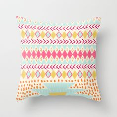 NATIVE PLAYGROUND Throw Pillow