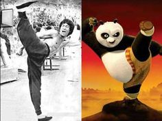 Bruce lee & Kungfu Panda