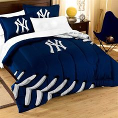 Broadcast your Toronto Blue Jays spirit with this 7 piece Toronto Blue Jays Contrast Full Sized Bed in a Bag. This is the perfect bedding to support not only your slumber but your Toronto Blue Jays. Full Size Comforter, Twin Comforter Sets, Bedding Sets, Baby Bedding, New York Yankees Baseball, Ny Yankees, Yankees Baby, Clemson Baseball, Baseball Stuff