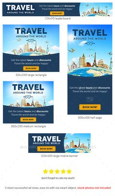 Travel Promotion Banners Template Banners