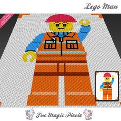 Looking for your next project? You're going to love Lego Man inspired C2C…