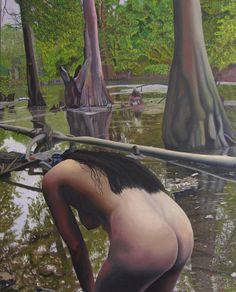 "Saatchi Art Artist: Thu Nguyen; Oil 2010 Painting ""May Morning Arkansas River 2"""