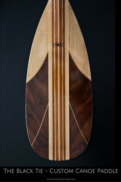 It's not everyday we get to create a custom canoe paddle like this. With its rich mix of special claro walnut and flame maple, this sleek paddle is ready for the red carpet. Canoe Paddles, Wood Canoe, Sup Paddle, Wood Boats, Canoes, Black Tie, Red Carpet, Surfing, Woodworking