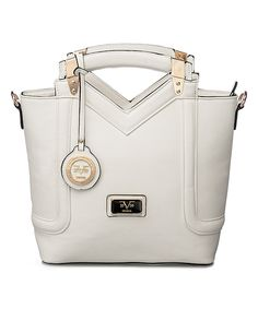 Love this Versace 19V69 White New York Satchel by Versace 19V69 on #zulily! #zulilyfinds