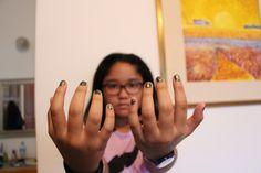 Did my nails today with crack nail polish :) lovee itt<3
