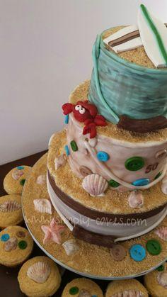 Beach themed 50th Birthday cake Www.facebook.com/simplycakes.brittneyshiley