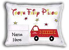 FIRETRUCK Tooth Fairy Pillow