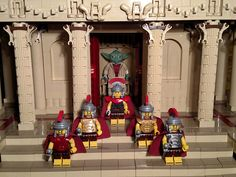 This week's featured MOC is a combination of ancient history and futuristic fiction. The scene depicts Marcus Licinius Crassus, a real Roman general and politician, visiting the temple of all knowledge about the force, which features the fictional Jedi Master, Yoda. The visit was apparently a success, because afterwards, Crassus gives the marching orders against Spartacus. #Lego #Minifigure #BrickWarriors #toys #MOC #LegoAccessories #MinifigureAccessories #LegoArmor #LegoRoman