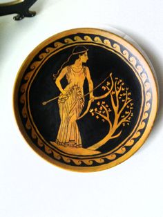 Artemis Painted Plate by tealbabe