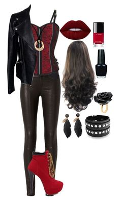 """""""Red and Black"""" by rosslynch-179 ❤ liked on Polyvore featuring art"""