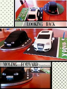 Sugarpaste cake '' Golf gt'' vs  '' Audi s3 ''!!!!!