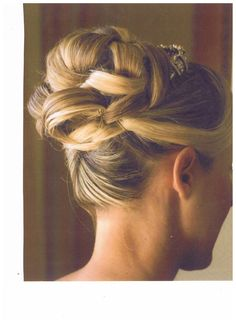 One of our brides! Awesome up-do! Hair and makeup by Michele Renee The Studio!