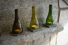 Wine Bottle Candle Shades   Photos   DIY